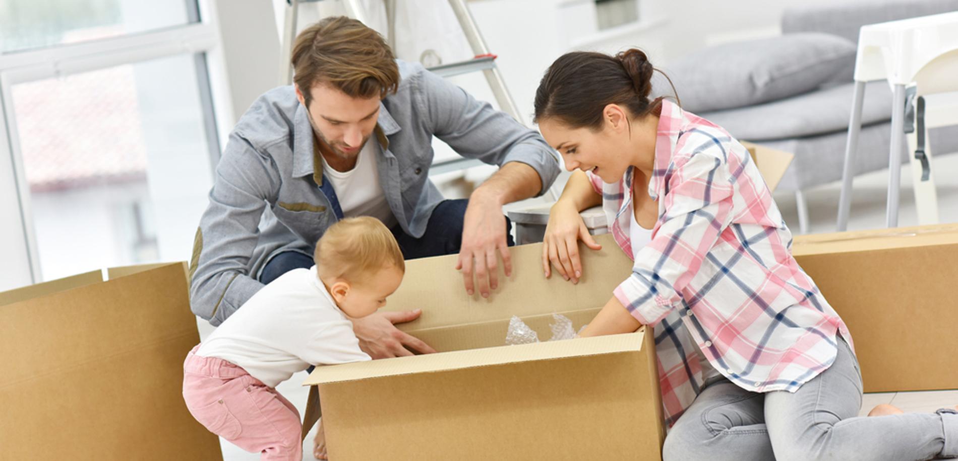 familia mudanza felicidad